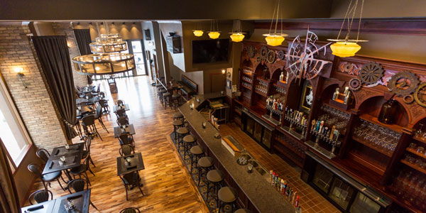 Brick Anchor Brew House Features Meyda Custom Lighting Chandel-Airs