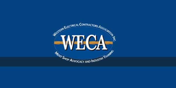 Western Electrical Contractors Association (WECA) in Rancho Cordova to Hold Electrical Employment Fast Track Open House on January 11, 2017