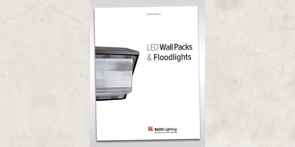 ELCO Lighting Introduces LED Wall Packs, Photocell Wall Mounts, Canopy Lighting and Floodlights