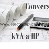 como convertir de kva a hp