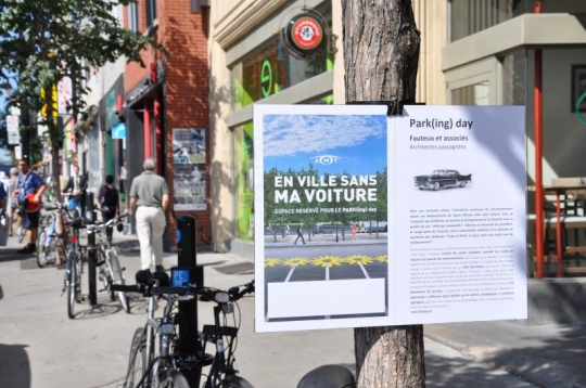 1 Parking Day sign