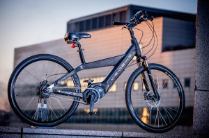 The high tech Visiobike e-bike!