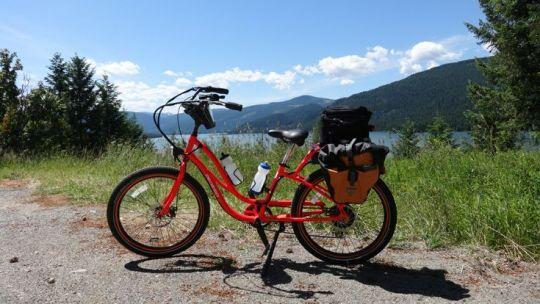 Cathy Rogers Pedego Interceptor electric bike