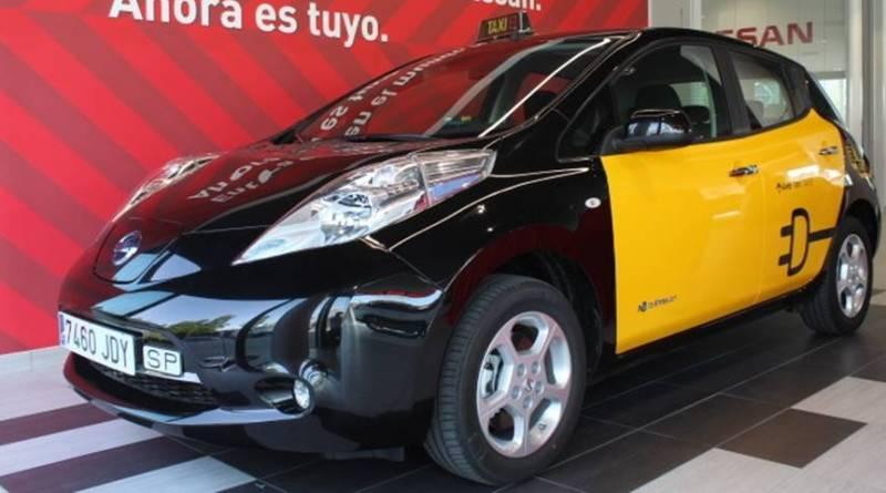 Nuevo taxi Nissan LEAF para Barcelona