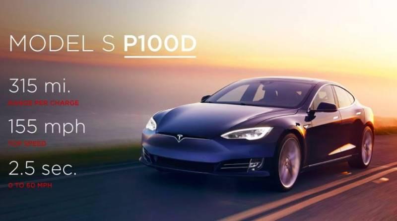 Tesla presenta una nueva batería de 100 kWh. Tesla Model S P100D el coche eléctrico más rápido del mundo