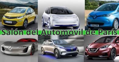 Los vehículos eléctricos que vendrán - Salón de París. Coches eléctricos que llegarán en 2017. Vehiculos eléctricos del futuro