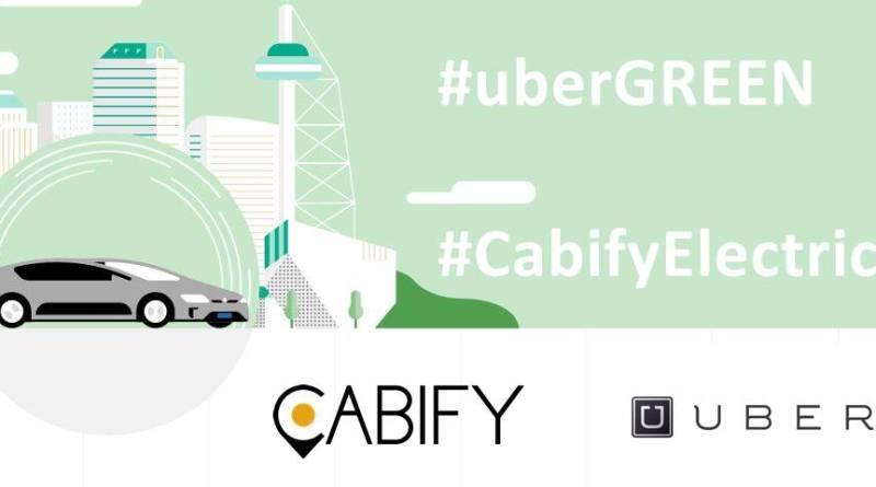 UBER y Cabify tendrán flota de vehículos eléctricos en Madrid