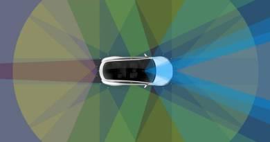 Tesla presenta su nuevo sistema de conducción autónoma Tesla Vision. Sistema de conducción autónoma nivel 5 de Tesla Motors. Sensores y cámaras para conducción autonoma.