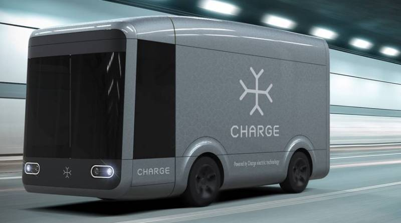 Furgoneta eléctrica y autónoma para el reparto urbano. Charge camion eléctrico para las ciudades