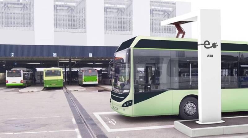 Autobuses eléctricos con recarga OppCharge en Luxemburgo