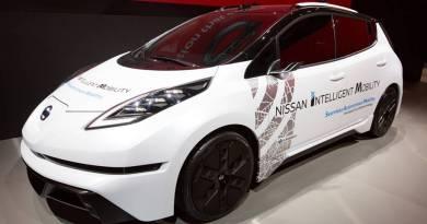 Novedades del Nissan LEAF en el CES2017. Nissan autonomous driving CES