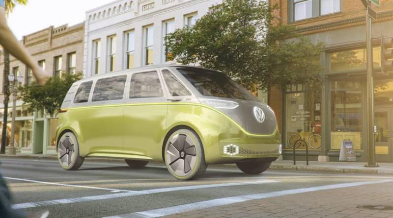 Volkswagen ofrecerá servicios de carsharing en el futuro bajo la marca WE. Volkswagen presenta el I.D. BUZZ en Detroit