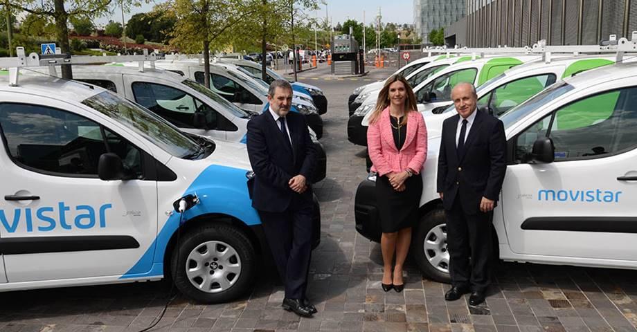 Telefónica incorpora diez vehículos eléctricos a su flota