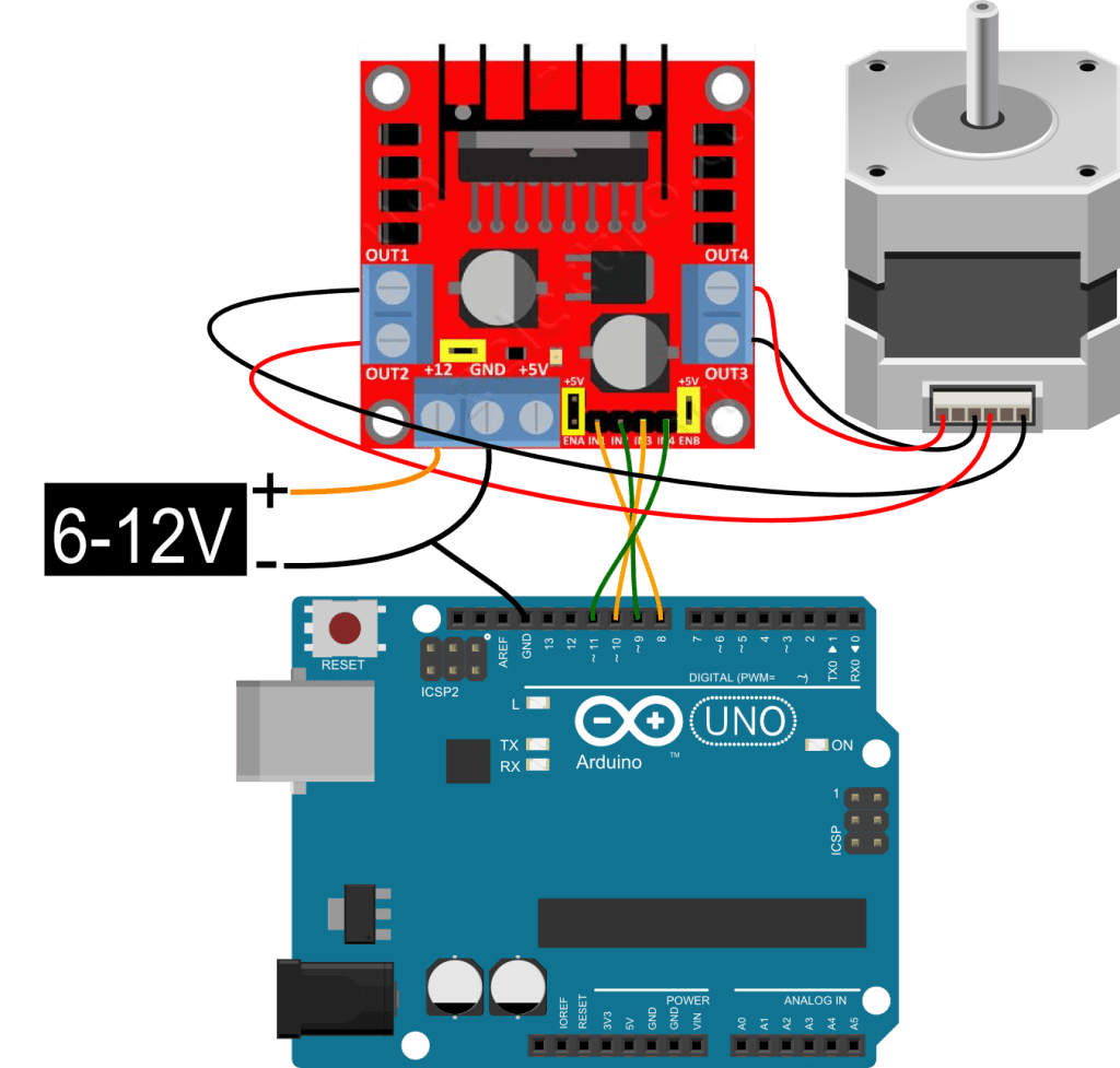Control the machine via bluetooth arduino