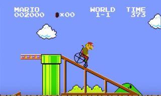 Super Mario en silla de ruedas