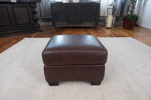 Medium Of Leather Storage Ottoman