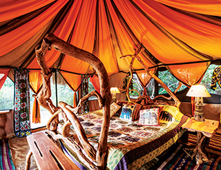 Elephant Watch Camp, luxury tents, eco design, bedroom, Samburu National Reserve, Elephant Watch Portfolio, Nairobi, Kenya