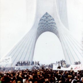 """Asura demonstration in freedom square, Tehran, during 1979 Iranian revolution"" by Unknown"