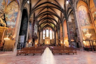 Úton Spanyolország felé - Perpignan katedrális belső
