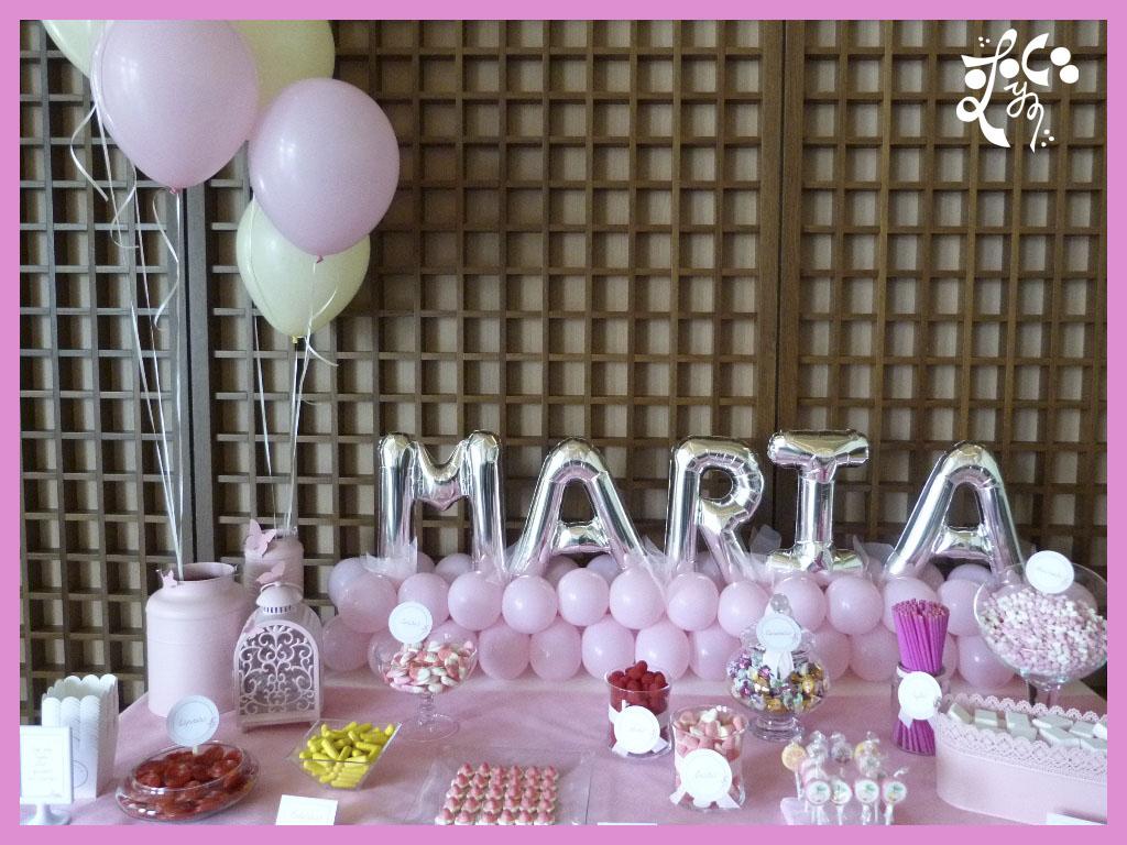 Decoracion con globos para una comuni n eleyce - Bombas para decorar ...
