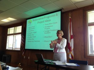 Mobile Baykeeper's Casi Callaway at the June 2013 Spanish Fort workshop