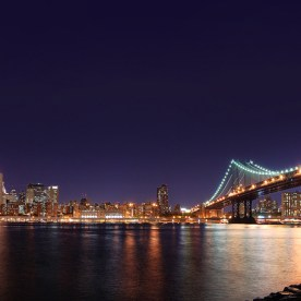 Brooklyn & Manhatten Bridges, New York, NY, USA