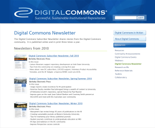 Digital Commons Site – DC Newsletters