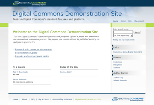 Digital Commons Demo Site Proposal