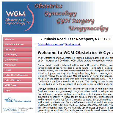 We're partnered with WGM Obstetrics & Gynecology