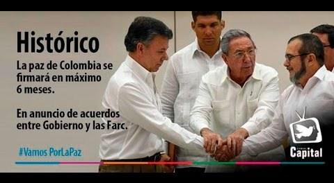 Mano a mano hemos quedado: Santos y Timochenko, bendecidos por Castro