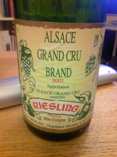 Riesling Grand Cru Brand 2001, Albert Boxler