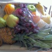 Basket of fruit - a gift from Rethink