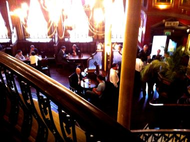 The Barrow Boy and Banker as seen from the mezzanine floor