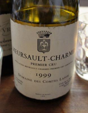 Meursault Premier Cru Charmes 1999, Domaine des Comte Lafon
