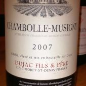 Chambolle-Musigny 2007, Dujac Fils et Pere