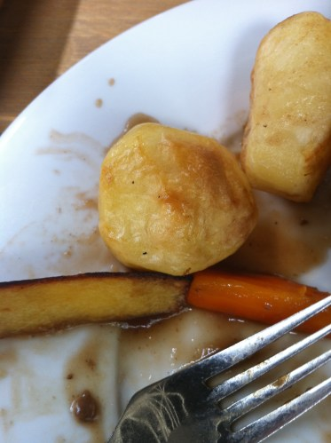 Disgusting roast potatoes from the Dial Arch's Sunday lunch