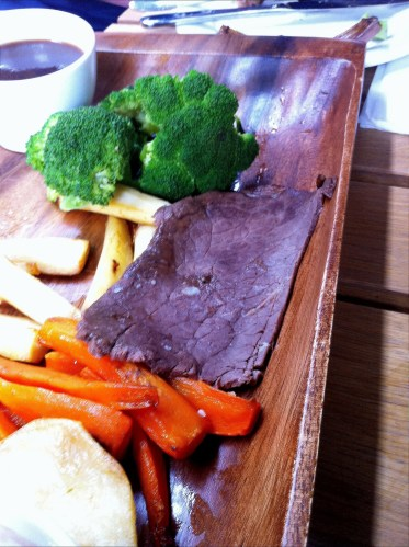 Shockingly over-cooked roast beef from the Dial Arch's Sunday lunch