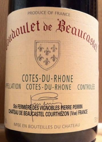 Cotes-du-Rhone 'Coudoulet de Beaucastel' 2005, Chateau de Beaucastel