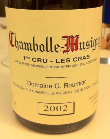 Chambolle-Musigny Premier Cru les Cras 2002, Domaine G. Roumier