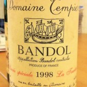 Bandol Cuvee Speciale La Tourtine 1998, Domaine Tempier