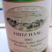 Riesling Auslese Goldkapsel Brauneberger Juffer-Sonnenuhr 2001, Fritz Haag
