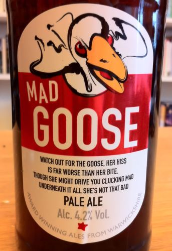 Mad Goose Pale Ale from the Purity Brewing Company