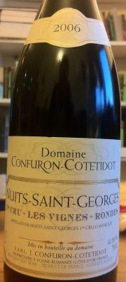 Nuits-Saint-Georges Premier Cru Les Vignes-Rondes 2006, Domaine Confuron-Cotetidot