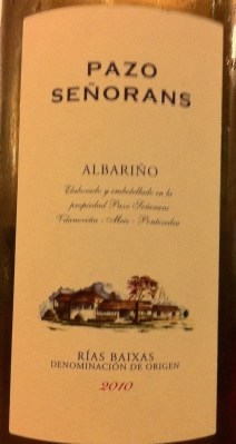 Albarino 2010, Pazo Senorans is quite mind-shatteringly tiresome