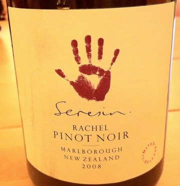 Pinot Noir 'Rachel' 2008, Seresin is merely drinkable yet over-priced