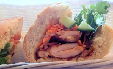 Banh Mi Bay grilled pork Vietnamese baguette