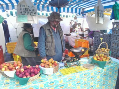Heritage Fruitwise Apples with its brilliant owner