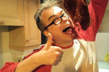 Beechcroft rump steak enjoyed by Davy