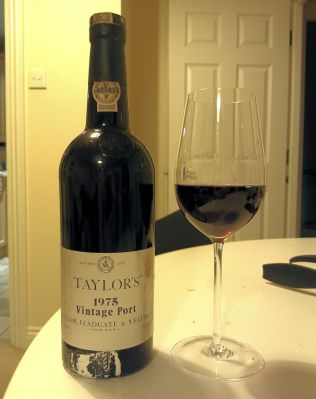 Taylors 1975 vintage Port - good but on it's way out