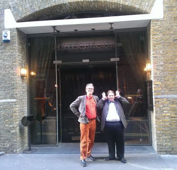 Hawksmoor Seven Dials with the Elitistreview team of Davy and Dani